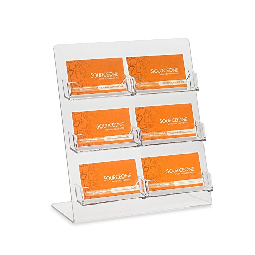 Source One Premium Counter Top Business Card Holder/Gift Card - Pack Gift Holder 6