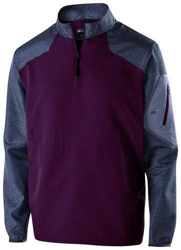 (Holloway Sportswear Raider Pullover Windbreaker. 229155 Carbon Print / Maroon 2XL)