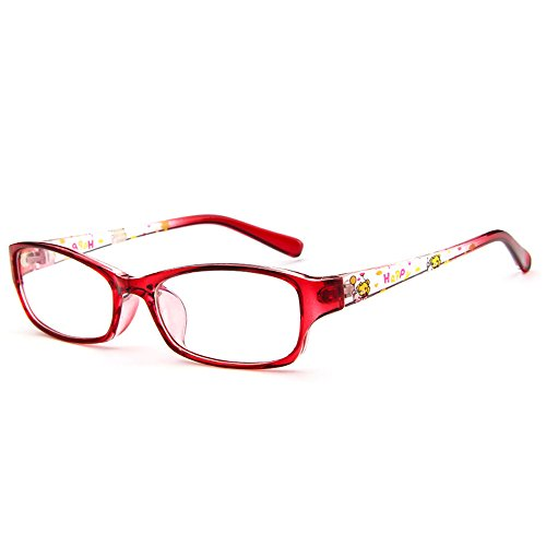 Fantia Kids Eyeglasses Stripe Children Eyewear Student Glasses Age 3-12 (10#)