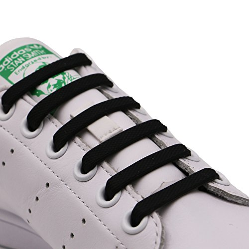 INMAKER No Tie Shoelaces for Kids and Adults, Silicone Elastic Shoelaces for Sneaker, Flat Tieless Shoe Laces for Outdoor Sport