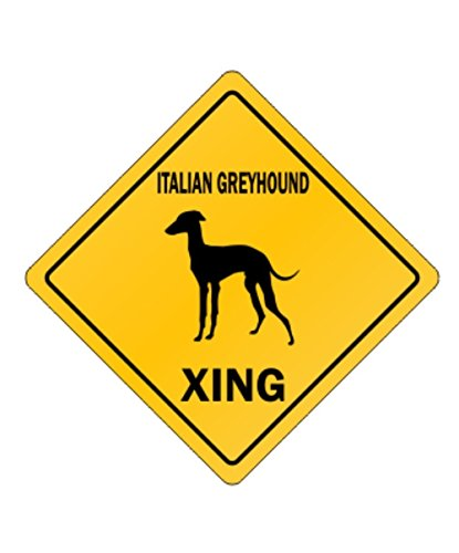 Italian Greyhound - Dogs [ Decorative Crossing Sign Wall Plaque ]