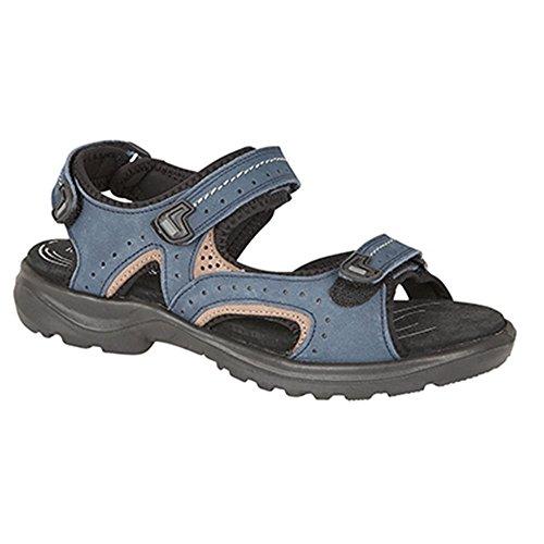 Mod Comfys Womens Nubuck Touch Fasten Sports Sandal L608D Navy Real Nubuck lbMJOaFn01