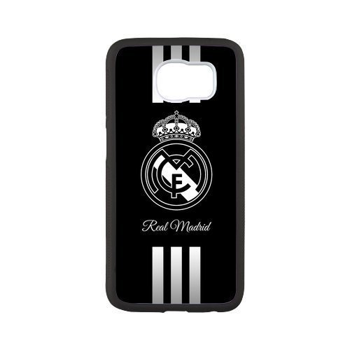 Real Madrid 1 Custom Phone Cases Design for Samsung Galaxy S6 covers with Balck Laser Technology