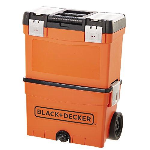 Black Amp Decker Jr Rolling Storage Case Import It All