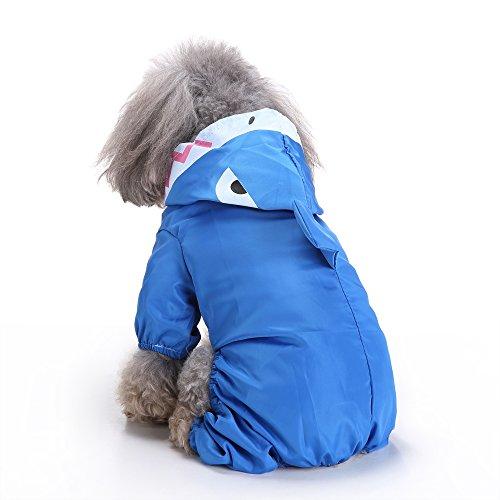 (LYEJM Dog Raincoat Rainsuit Waterproof Dog Puppy Jacket Coat Pet Rainwear Clothes for Small Dog (Size : L))