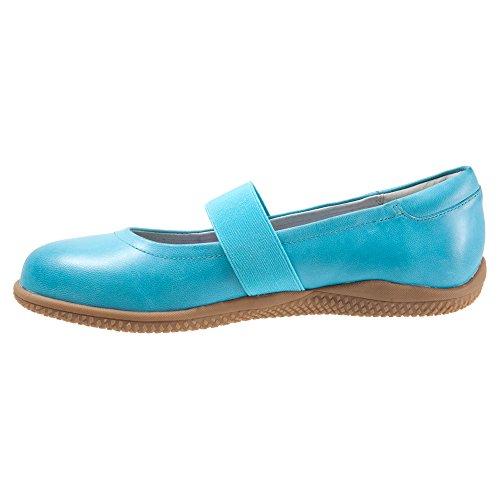 Soft Flat Dull Point Jane High Leather Women's Mary Blue Ocean SoftWalk PqRpwaSUxn