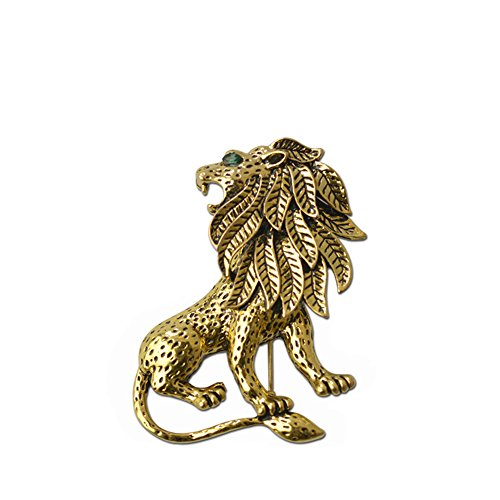 CHUYUN Trendy Animal Brooches Personality Lion Brooch pin for Men Women Accessories