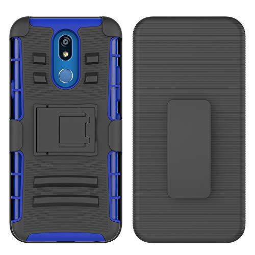 LG K40 Case, LG K12 Plus/LG X4 (2019)/ LMX420 Phone Case, UZER Heavy Duty Shock-Absorption/High Impact Resistant Armor Holster Defender Case with Kickstand + Swivel Belt Clip Holster for LG K40 2019 (Kate Spade Adjustable Ring)