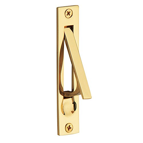Baldwin Estate 0465.030 Narrow Solid Forged Brass Edge Pull in Satin Nickel