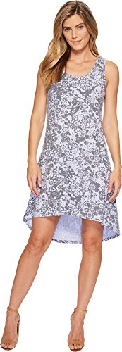 Mod-O-Doc Women's Cotton Modal Spandex Jersey Hi-Low Hem Tank Dress w/Keyhole Back Pale Pansy Large