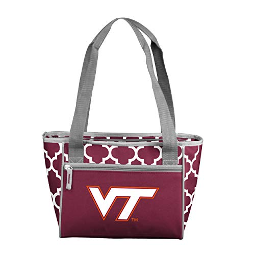 Logo Brands NCAA Virginia Tech Hokies 16 Cooler Can Tote, Maroon, One Size