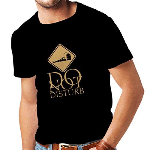 Camisetas hombre No molestar - Sólo estoy aquí para tomar una copa Negro Oro