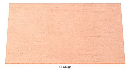 "18 Gauge Copper Sheet - 6"" x"