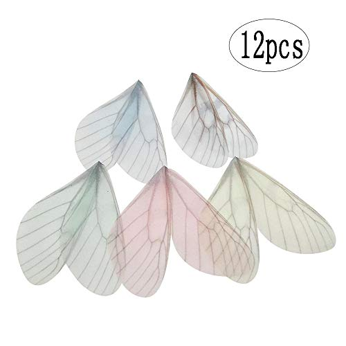 BinaryABC Butterfly Craft Wings Charms Pendant,DIY Earring Necklace Hair Clip Decoration,12Pcs (Random Color)