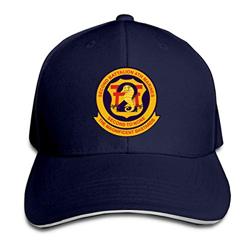 2nd Battalion, 4th Marines Adjustable Baseball Caps Vintage Sandwich Hat Navy