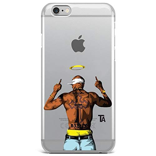 Celebrity Cases - RIP Tupac Amaru Shakur iPhone 8 Case Rapper 2Pac Shakur iPhone 7 Back Cover Singer Music Artist Rap Fan Celebrity Middle Finger iPhone 8/7 Skin Protective Case Cool Stylish Transparent Slim Soft TPU
