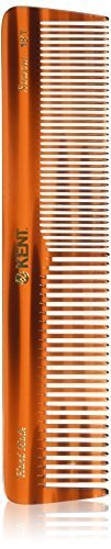 Kent - The Handmade Comb - 188 mm Extra Large Coarse and Fine Toothed Sawcut 16T