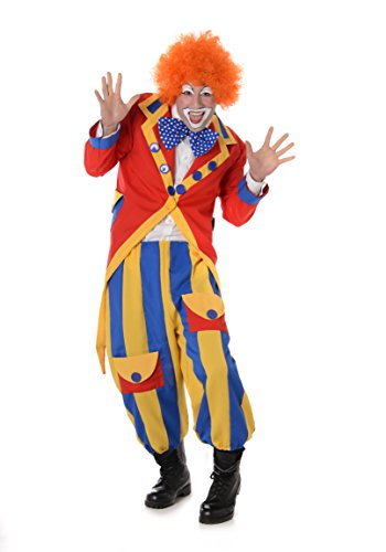 Happy Clown Costume - Halloween Funny Rainbow Party Suit, Medium for $<!--$29.99-->