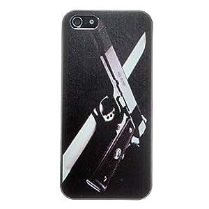 Gun in the Dark Pattern Anti-scratch Matte PC Hard Case for iPhone 5/5S
