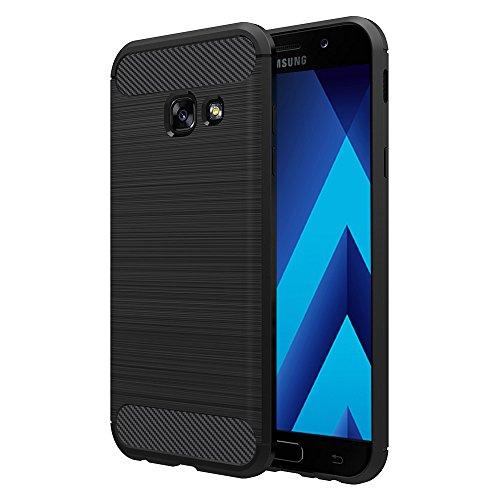 Funda Samsung galaxy A3 2017, Simpeak Funda Samsung galaxy A3 2017 carcasas Samsung A3 2017 funda cases Suave TPU Anti deslizamiento (4,7 Pulgadas), Azul Negro