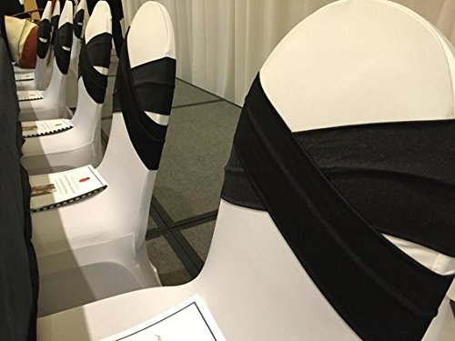 SPRINGROSE Ivory Scuba Spandex Stretch Banquet Party Wedding Chair Covers (set of 10)