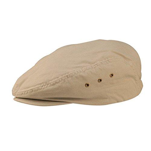 Washed Canvas Ivy Cap - Khaki - E4hats Plaid Cap