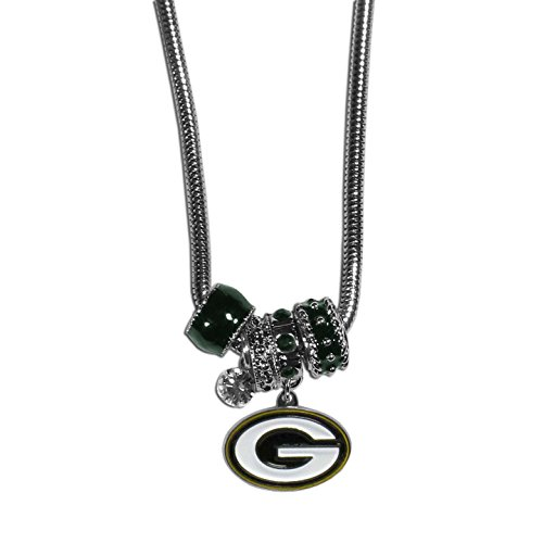 NFL Green Bay Packers Euro Bead Necklace, 18-Inch