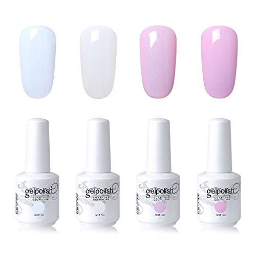 Elite99 Gel Nail Polish Set Soak Off UV LED Nail Art Kit 4 C