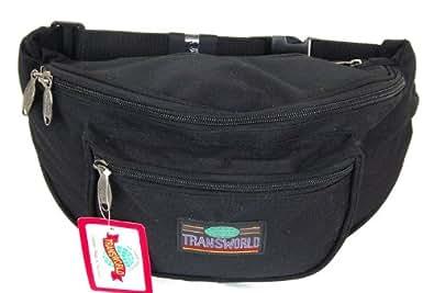 Canvas Fanny Pack Travel Clutch Waist Bag Large Purse Adjustable Strap Tote Bag