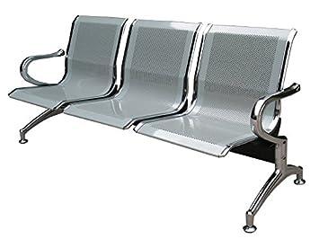 Silla banco D espera de metal para oficina 3 plazas: Amazon.es: Bricolaje y herramientas