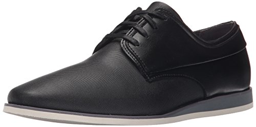Calvin Klein Men's Kellen Emboss Leather Slip-On Loafer, Black, 11.5 M US