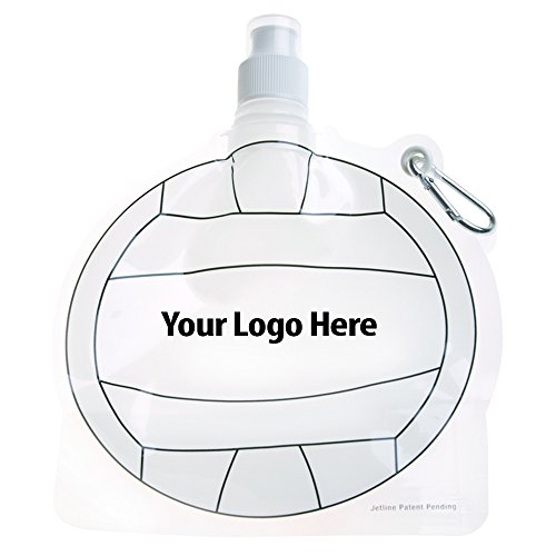 HydroPouch! 24 Oz. Volleyball Collapsible Water Bottle Patented - 100 Quantity - $3.40 Each - PROMOTIONAL PRODUCT / BULK / BRANDED with YOUR LOGO / CUSTOMIZED by Sunrise Identity (Image #3)