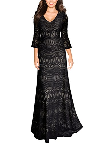 long black formal dresses with sleeves - 7