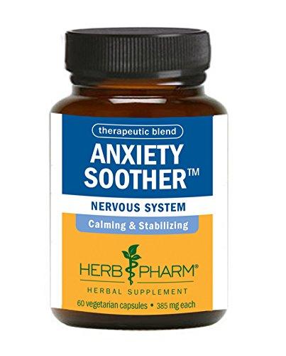 Herb Pharm anxiété Sucette Herbal Formula avec Kava Pour le support du système nerveux - 60 Caps Végétarien