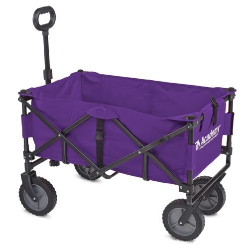 Academy Sports Outdoors Folding Sport Wagon with Removable Bed Rolls well on grass gravel and even mud (Purple) by Academy Sports
