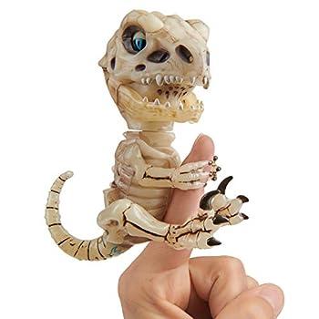 WowWee Untamed Skeleton Raptor by Fingerlings – Gloom (Sand) – Interactive Collectible Dinosaur