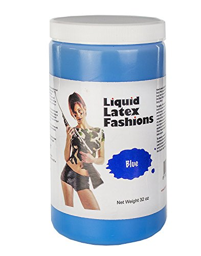Liquid Latex Fashions Ammonia Free Liquid Latex Body Paint - 32oz Blue