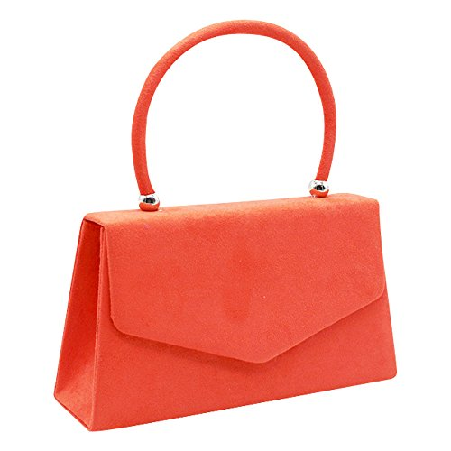 Clutch Girls Bag Bag Womens Velvet Suede Tote Party Bag Wedding Wocharm Envelope Prom Coral Purse ZYvwqq4