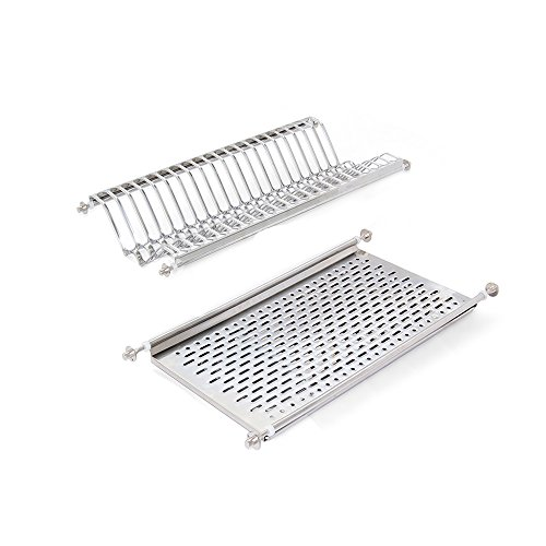 Emuca 8929765 Stainless steel dish drying rack for standard 60cm-widht kitchen cabinet by Emuca