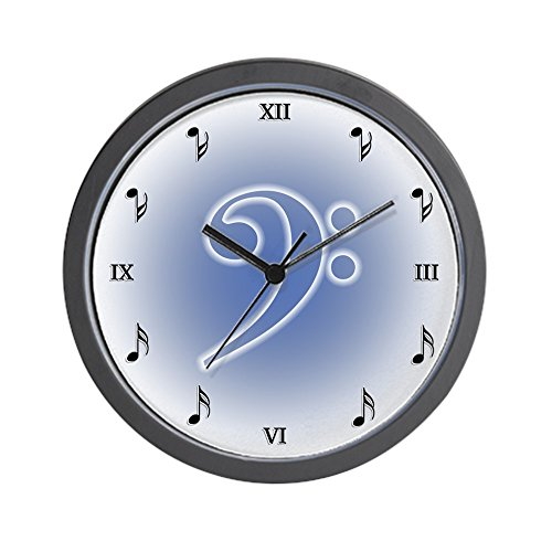 (CafePress - Muted Bass Clef Wall Clock - Unique Decorative 10