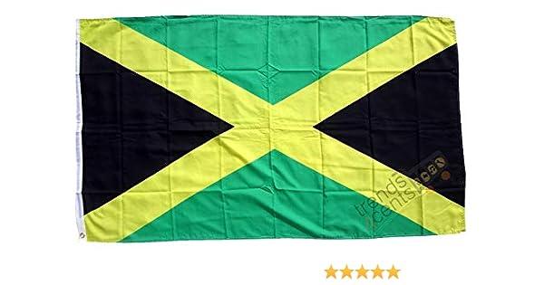Jamaica Bandera 250 x 150 cm, tamaño grande, impermeable): Amazon ...