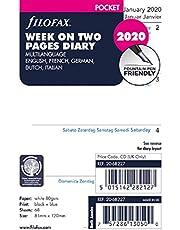 Filofax 2020 Pocket Week to View Refill, Jan 2020- Dec 2020, 4.75 X 3.25 Inches (C68227-20)