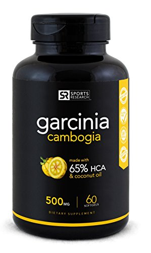 Cheap Sports Research Garcinia Cambogia | 65 percent HCA | Coconut Oil For Weight Loss | 60ct | 500mg
