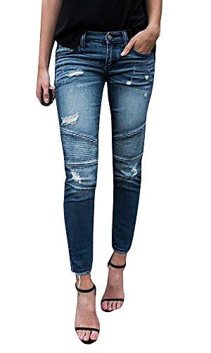 Womens Moto Jeans - 2