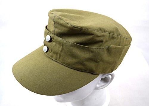 Chengxiang Replica WWII German Afrika Korps Field Cap Hat 57 58 59 60CM (58cm)