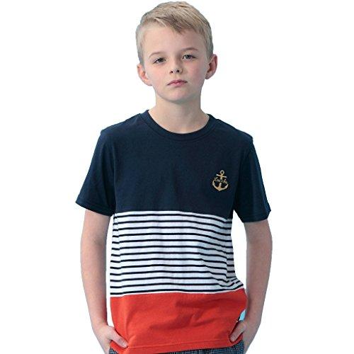 Leo&Lily Big Boys' Kids Casual Sports Stripes Jersey T-Shirt (Jersey Tee Stripe)