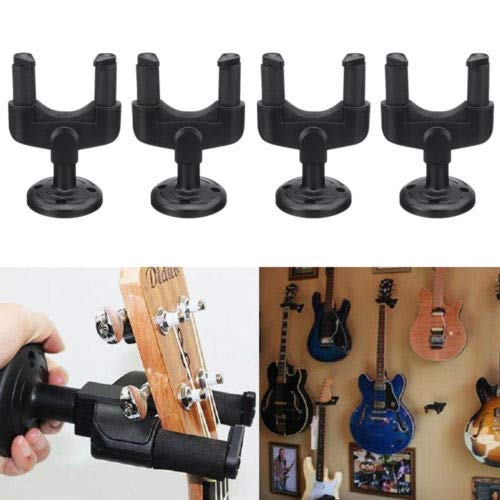 4 Pcs of Guitar Hanger Stand Holder Wall Mount Display Acoustic Electric Ukelele Guitar