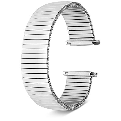 United Watch Bands Expandable & Adjustable Sleek Stainless Steel Or Gold Tone Watch Band for Men & Women Universal Fit 17mm,18mm,19mm,20mm, and 22mm Watch lugs| Includes 2 Spring Bars