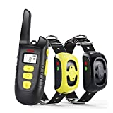 Fypet Shock Collar with Remote,2000ft/IP67 100% Waterproof Electric Shock/Vibration/Beep Control Dog Training Collar for Small Medium Large Dogs(2 Collars)