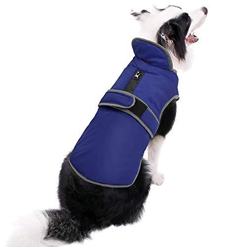 MIGOHI Reflective Waterproof Windproof Dog Coat Cold Weather Warm Dog Jacket Reversible Stormguard Design Winter Dog Vest for Small Medium Large Dogs